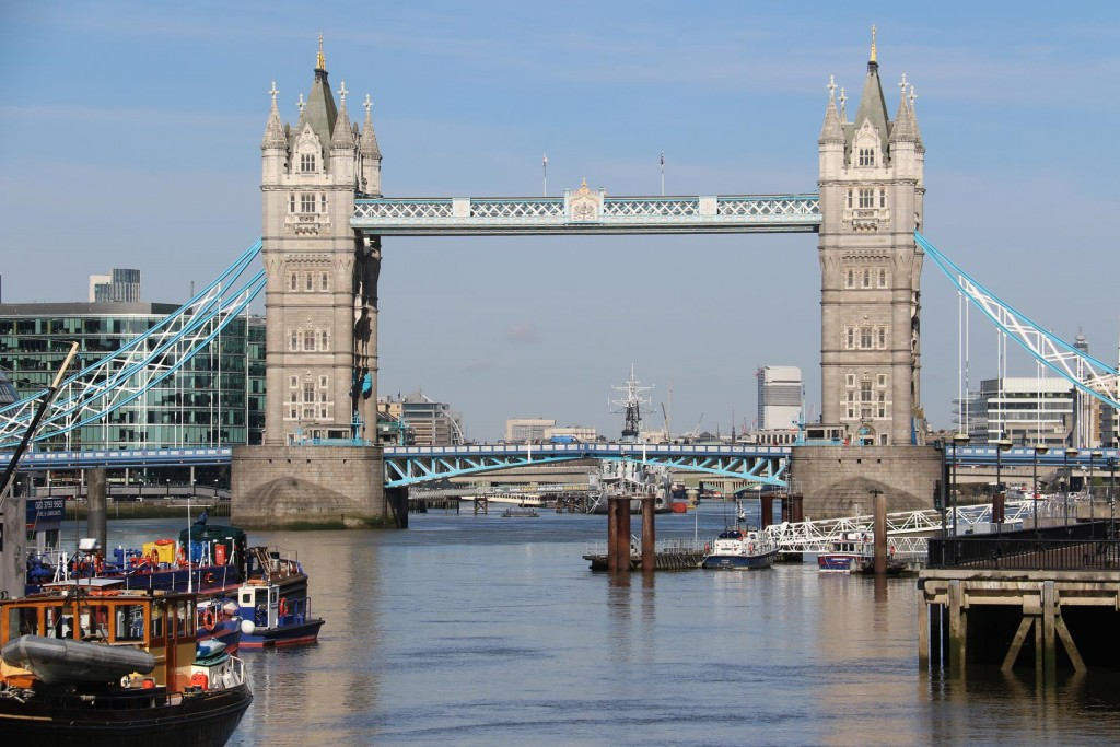 The Tower Bridge is not too far away