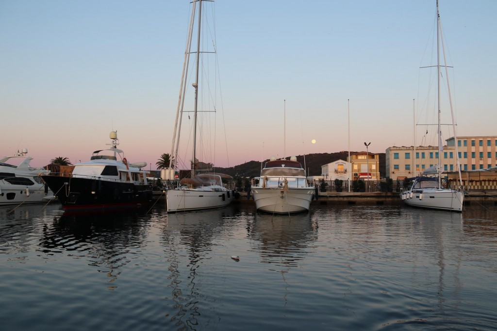 Looking back to our berth for the past few days