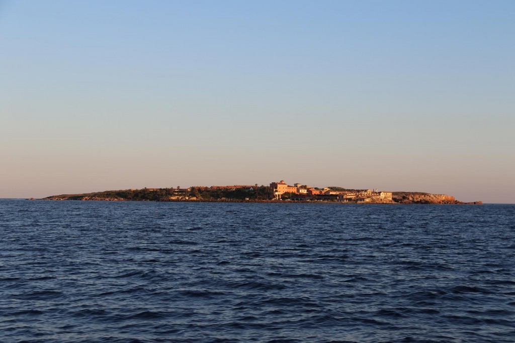 The small privately owned island, Isola Piana