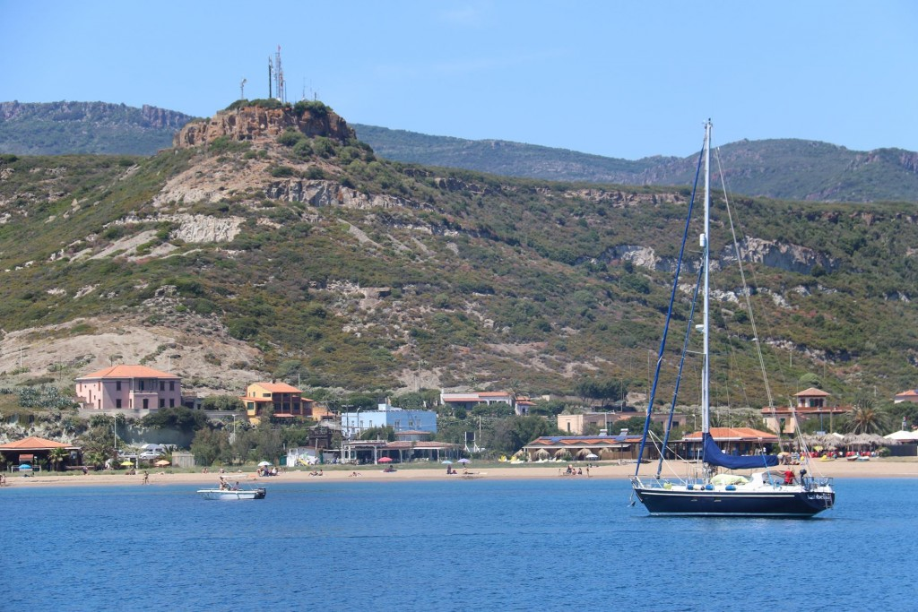 The main harbour of Bosa, Port Commerciale