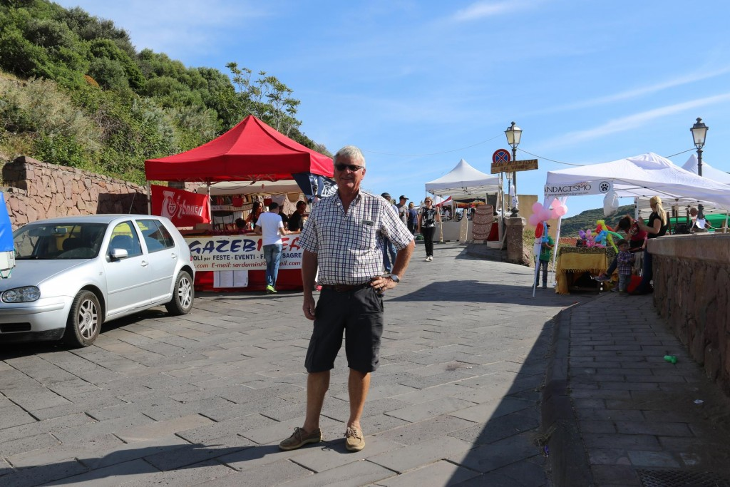 Daniel from the marina, told us about the wine festival and offered to drive us up to 'Festa del Vino