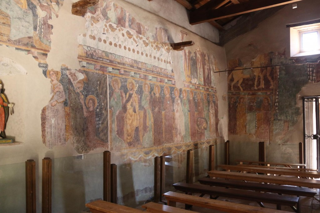 The interior of the chapel with it's extraordinary frescos