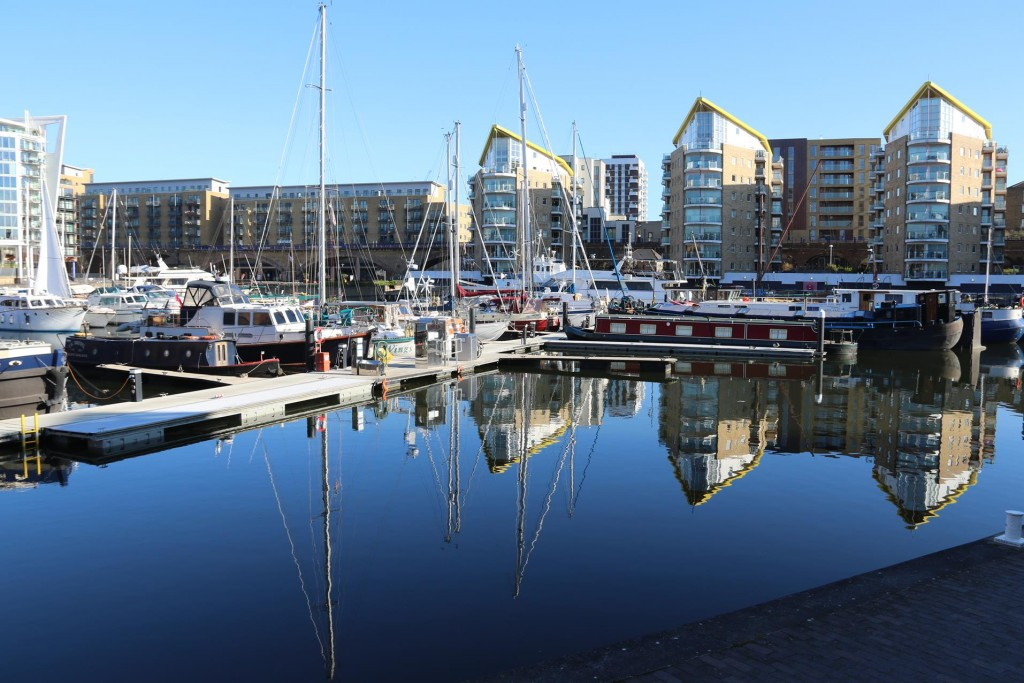 There wasn't a ripple on the water in Limehouse Basin