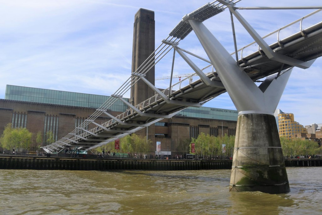 The Millennium Bridge which is a pedestrian only bridge across the Thames was first opened in 2000. Shortly after it was closed for a couple of years to fix the wobble which pedestrians experienced when walking across!!!