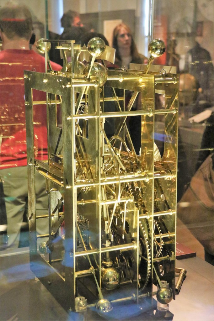 An ancient clock on display at the Royal Observatory