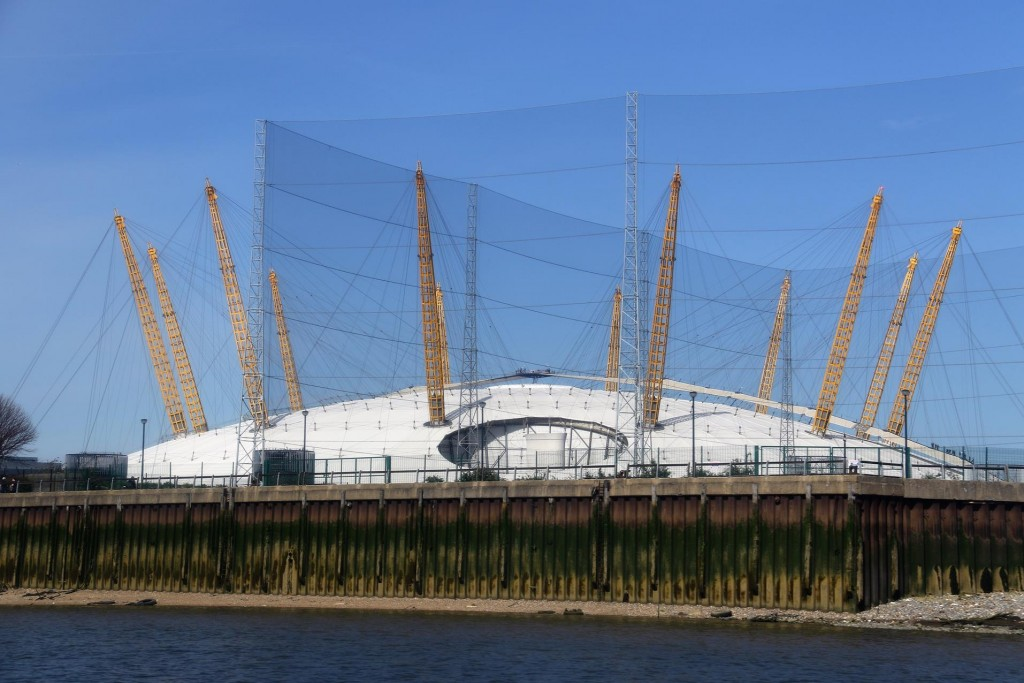 The last stop on the ferry line is North Greenwich where 'The 02 Arena' is situated. Sports events during the Olympics were held here and now is a venue for concerts etc.