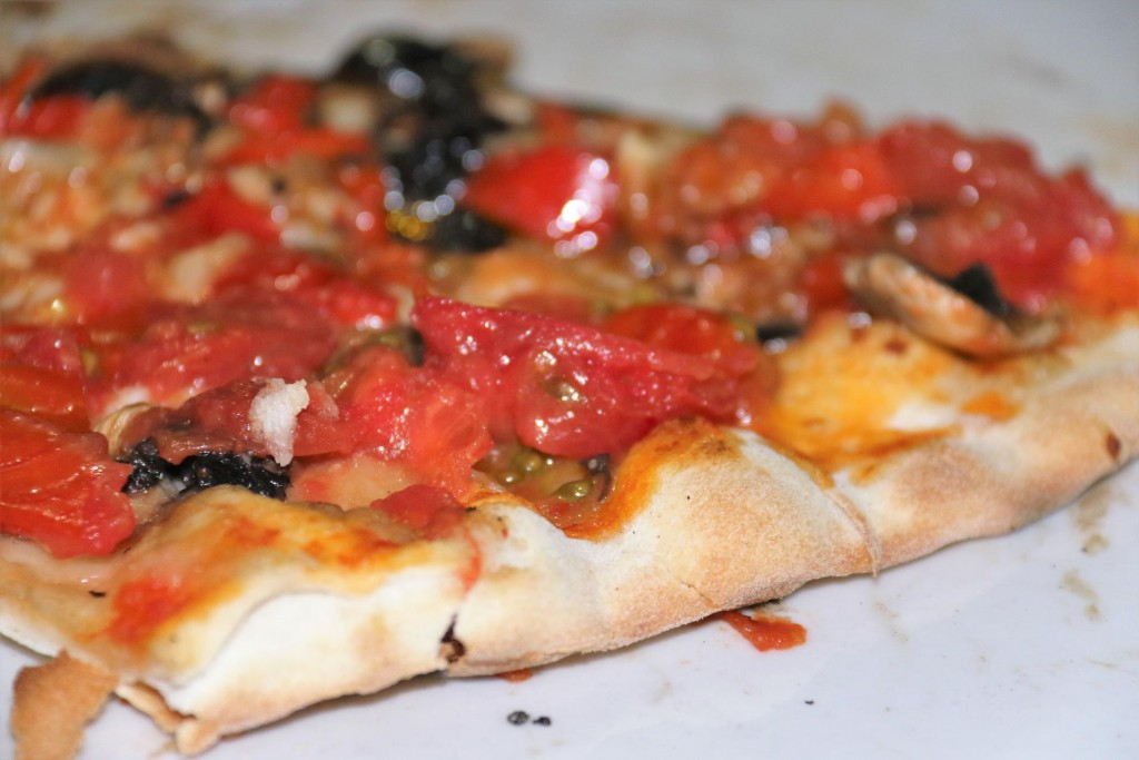 and a typical Sardinian pizza
