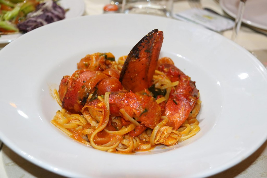 We both had the lobster pasta which was amazing!!!