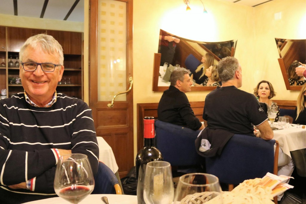 When we arrived we ordered some red wine and to or surprise the delightful English lady that was sitting beside me on the flight from London was sitting at the next table