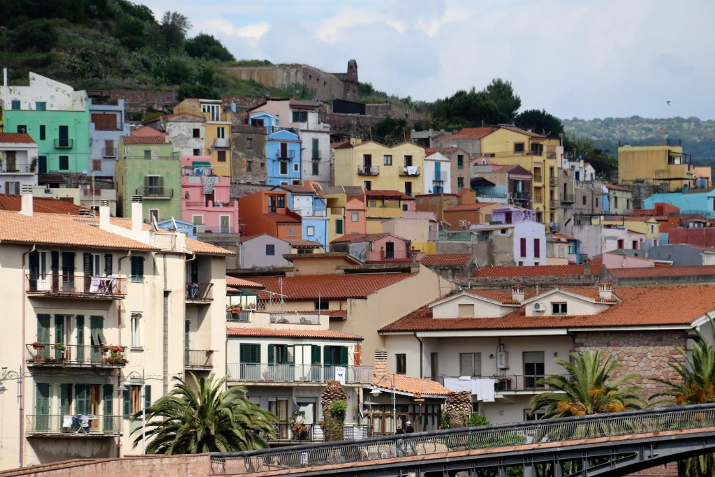 Bosa is one of the most attractive towns in Sardina