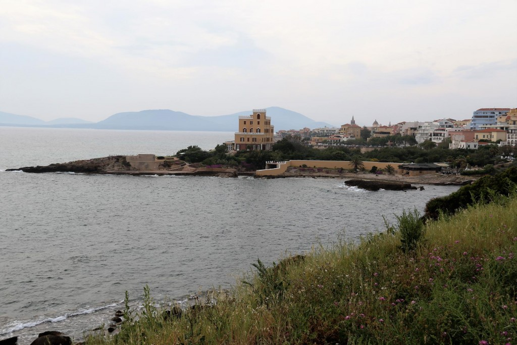 Approaching the town of Alghero north of Bosa