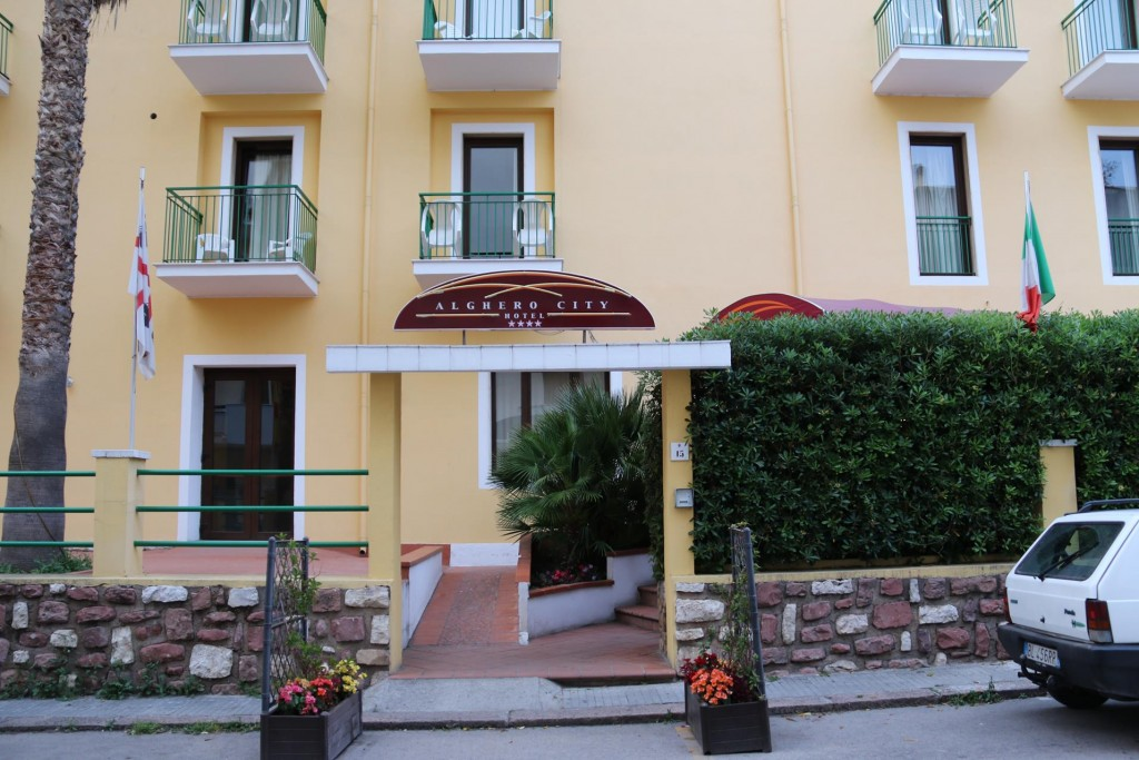 After trying a few B & B's that were booked out we manage to get a room in Hotel Alghero for the night
