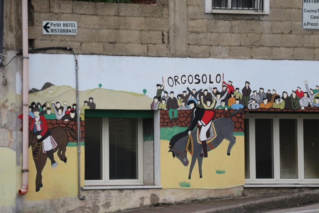 South of Nuoro in the mountains is Orgosolo. This previously notorious town is now on the map for the many controvertial murals here