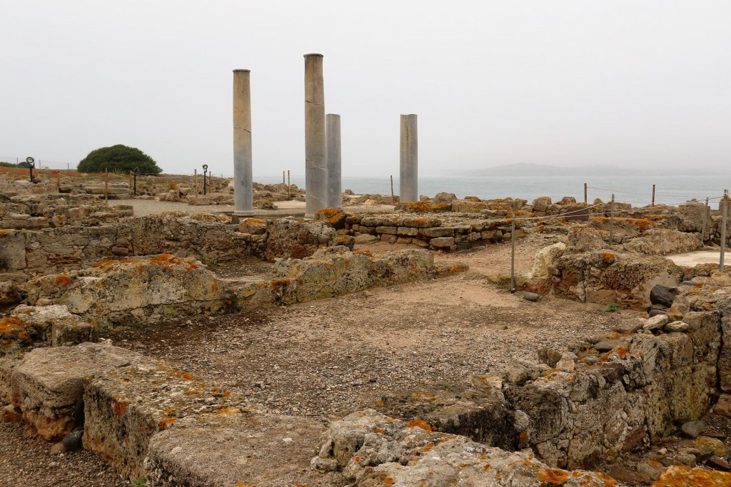 Nora was first settled by the Phoenicians in the 8th century BC and later the site was rebuilt by the Punics and then the Romans