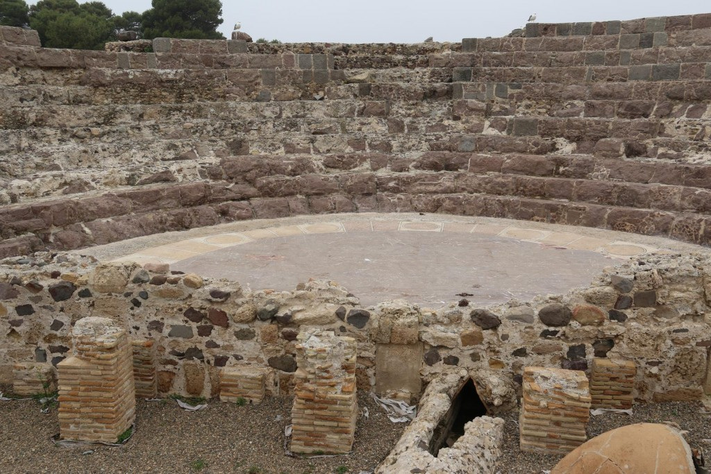 The small amphitheatre overlooking the sea was built by the Romans in the 2nd Century