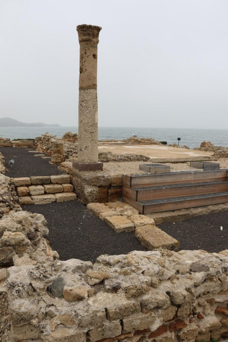 A single column remains from the former temple of Tanit, a Carthaginian Venus that was once worshipped here at Nora