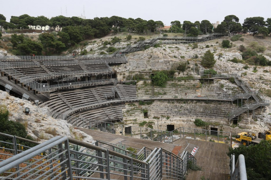 Once back in Cagliari we drive up to the amphitheatre which we missed on our other visits to the town