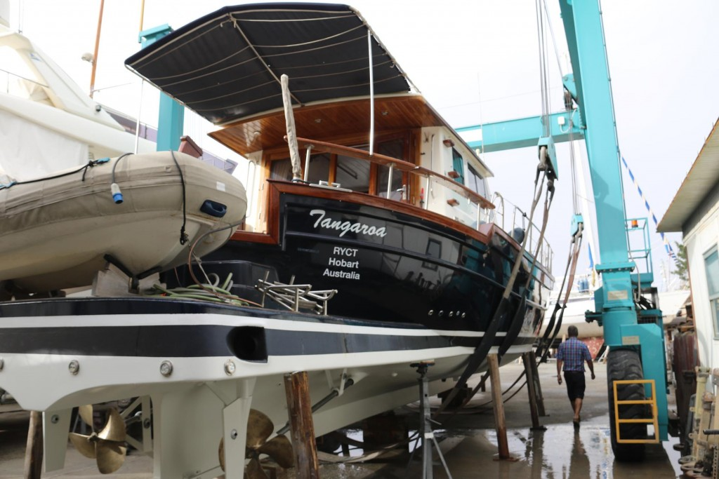 The Tangaroa is finally getting prepared to be put back in the water