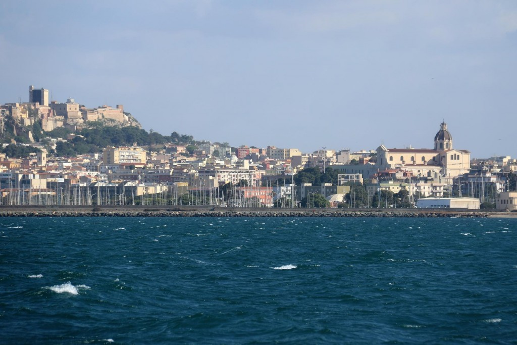 We arrive in the port of Cagliari which is only approximately 20kms along the coast