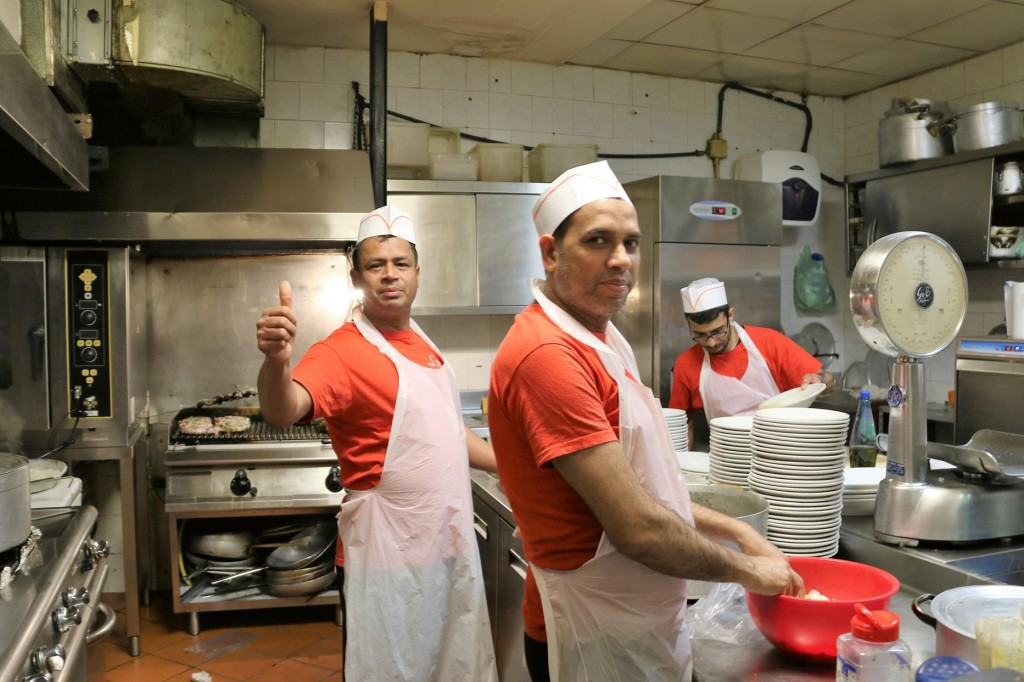 Friendly kitchen staff