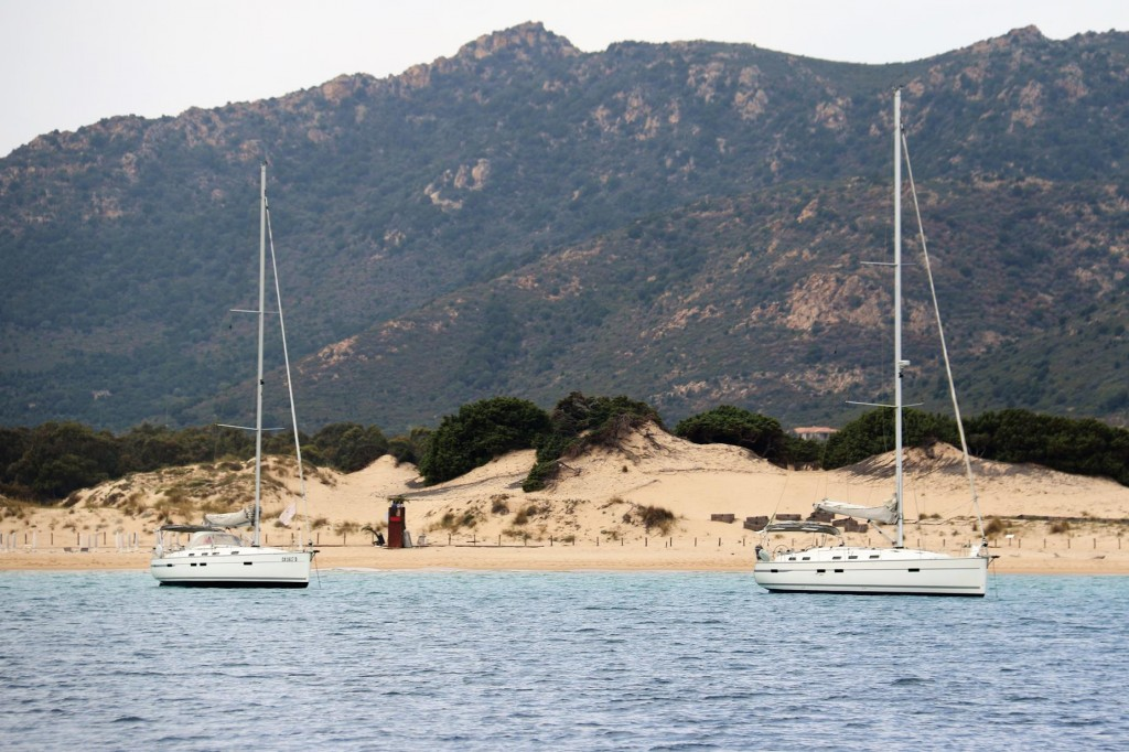 There are a couple of yachts moored in East Cove, a tiny bay east of Isola Teredda