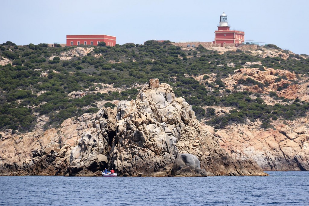 The lighthouse on Capo Spartivento one of the most southern tips of Sardinia