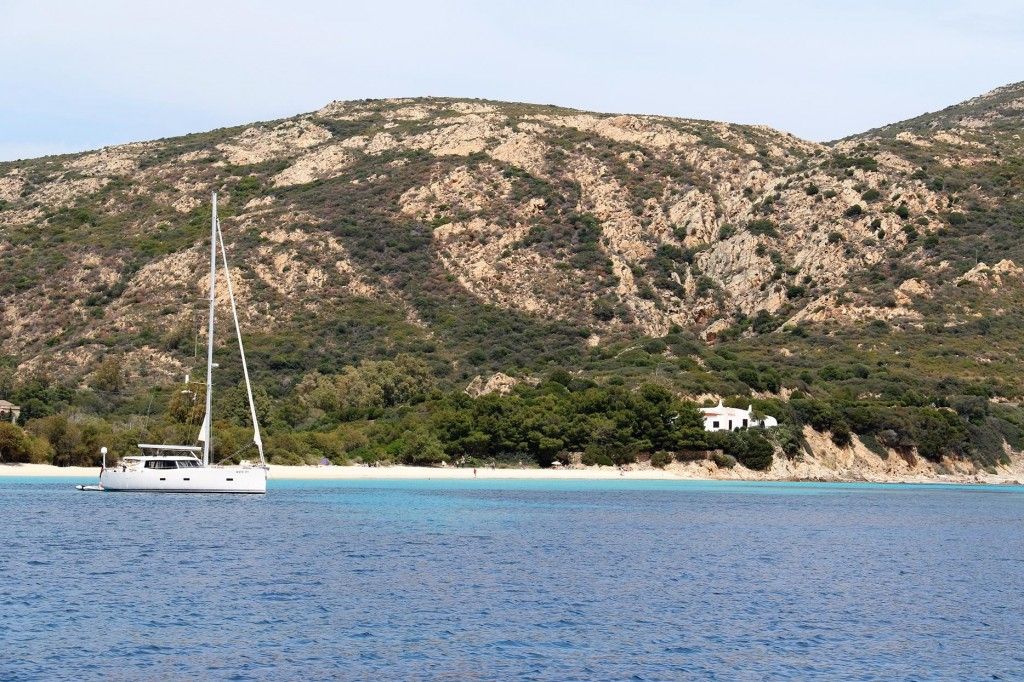 We drop anchor in the lovely bay by Isola Teredda