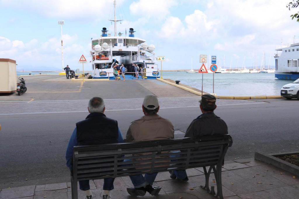 Everyday ferries from the mainland of Sardinia come and go from the main port of Carloforte
