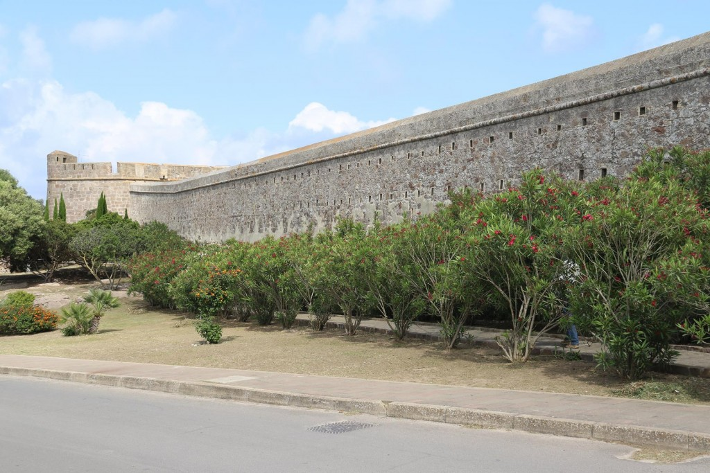 The old city wall is still in quite good condition