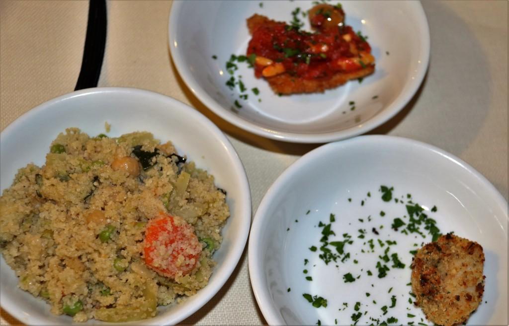 More tasting plates arrive!
