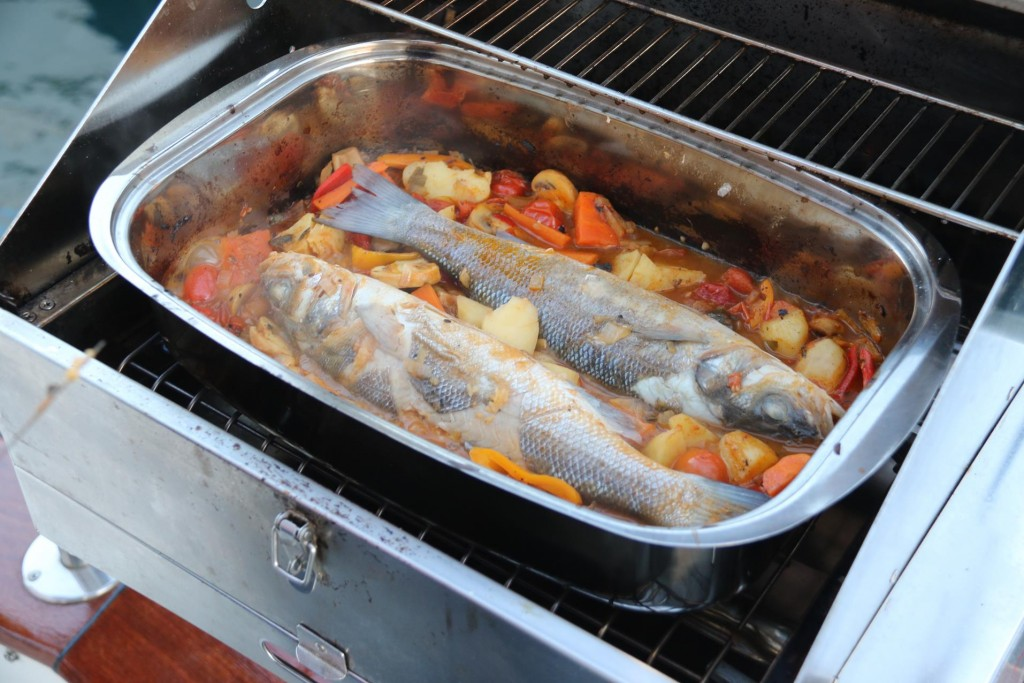 Tonight we cook our own Sardinian fish in the oven