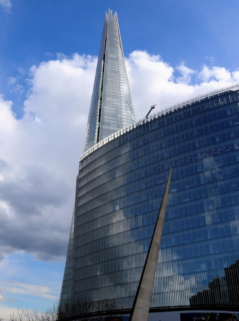 The modern buildings mix well with the old ones in London today