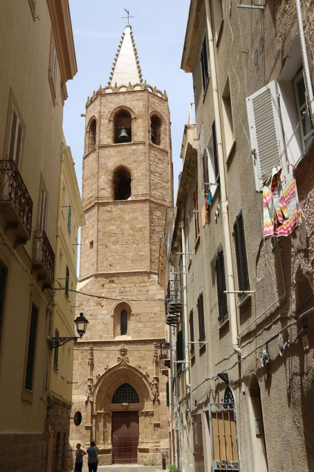 The Cathedral's Gothic-Aragonese  40m bell tower