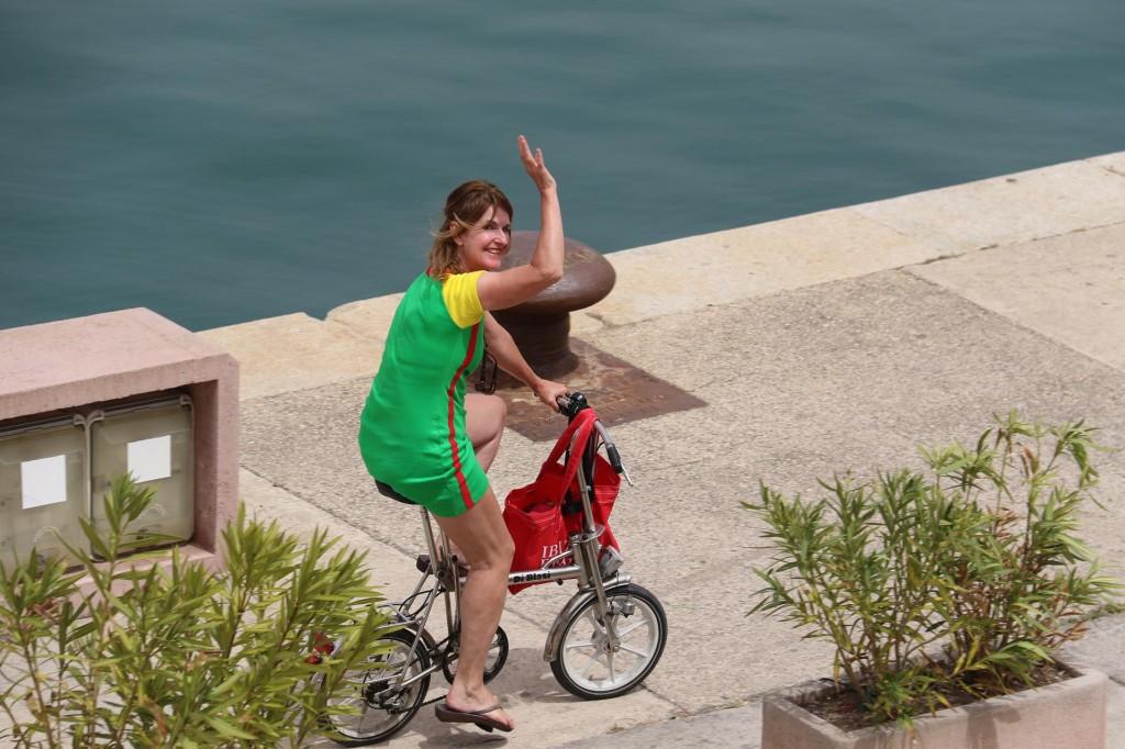 Renee off on her bike