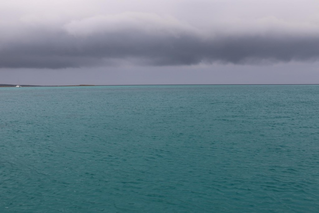 Although the conditions were very dark, the water was turquoise coloured - imagine on a bright day!