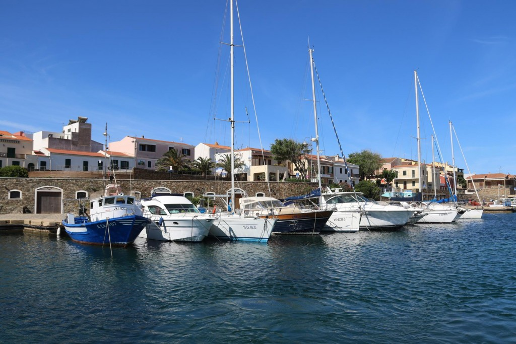We wake up to a bright sunny day in the port of Stintino