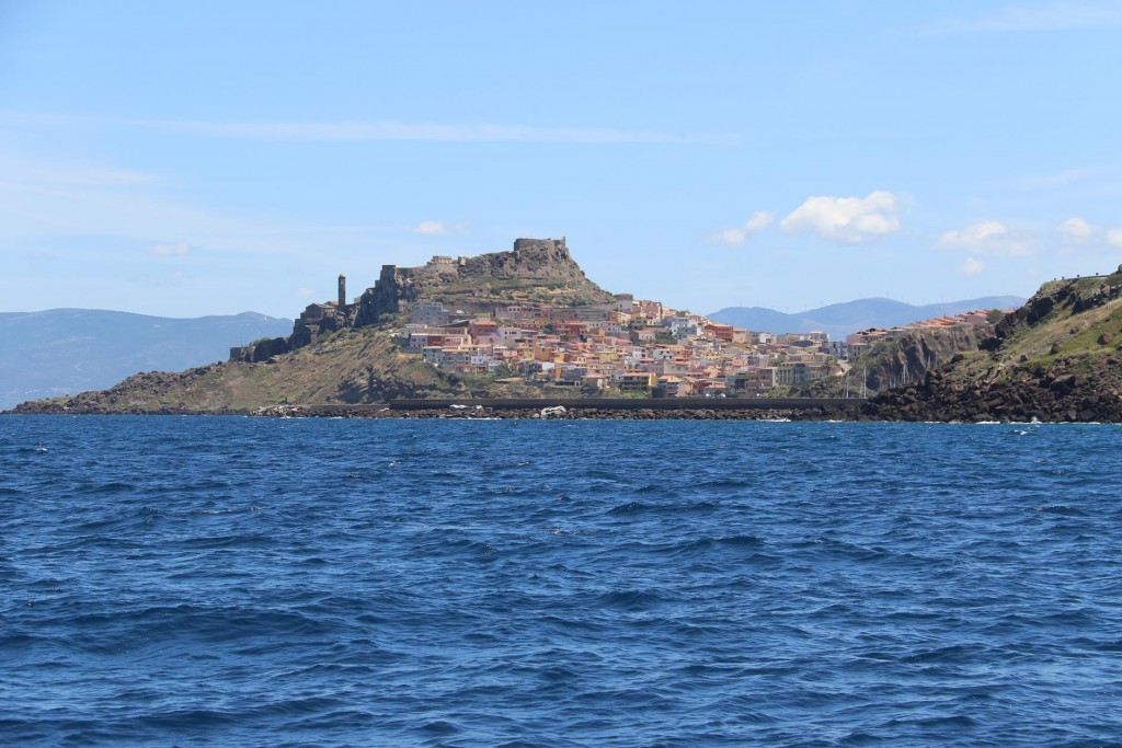 Approaching the picturesque town with the castle on the hill