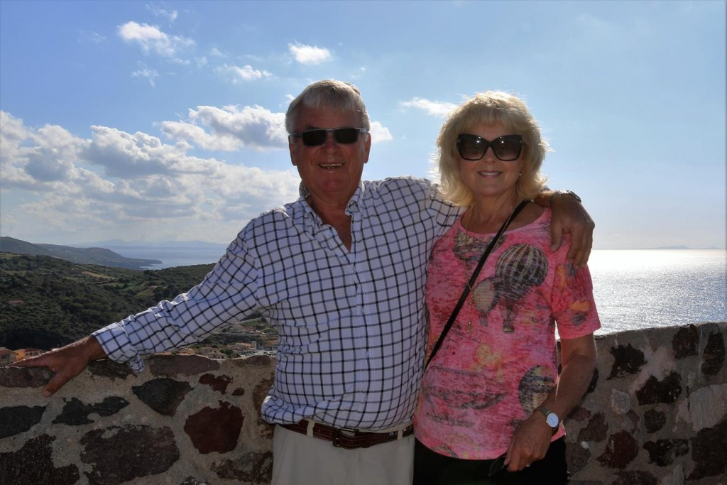 Us on the castle in Castelsardo