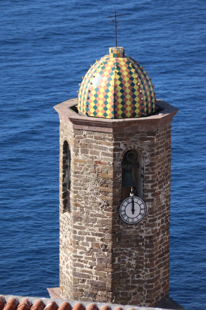 The belltower of the Cattedrale di Sant'Antonio Abate with it's brightly tiled cupola