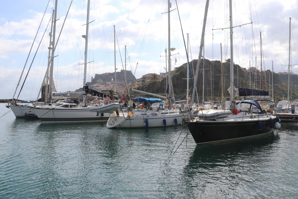 This morning we depart the marina  by Castelsardo