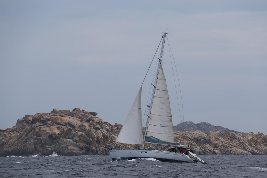 The sailing off Spargi Island is great on a windy day such as this!!