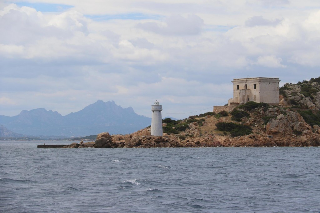 The lighthouse on Capo d'Orso near the entrance to Golfo di Arzachena