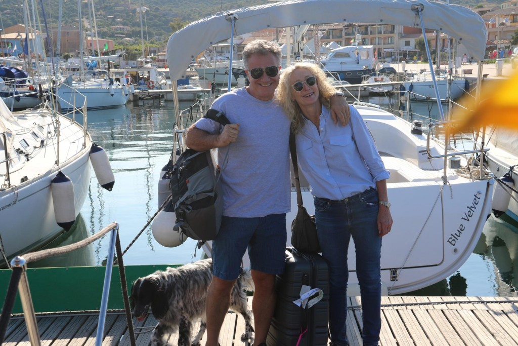 John and Angela conveniently had a direct flight to Olbia from Rome, where they had spent a few days after arriving from Australia