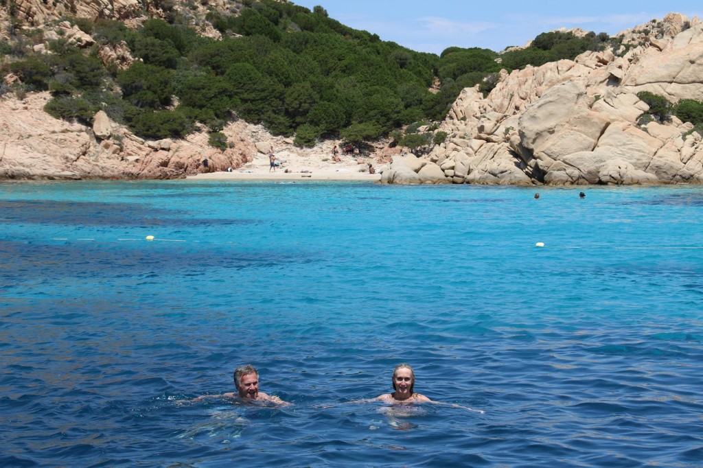 Our first swim for our guests and also for us this season
