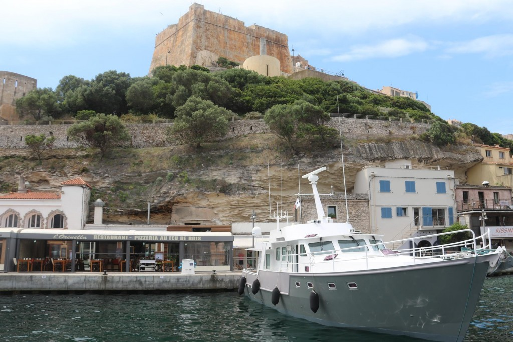 We were very lucky to have such a good berth for our night in Bonifacio