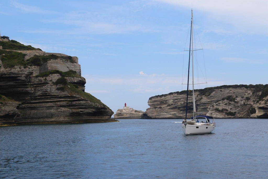 Yachts were already arriving as we departed to secure a position in the busy port