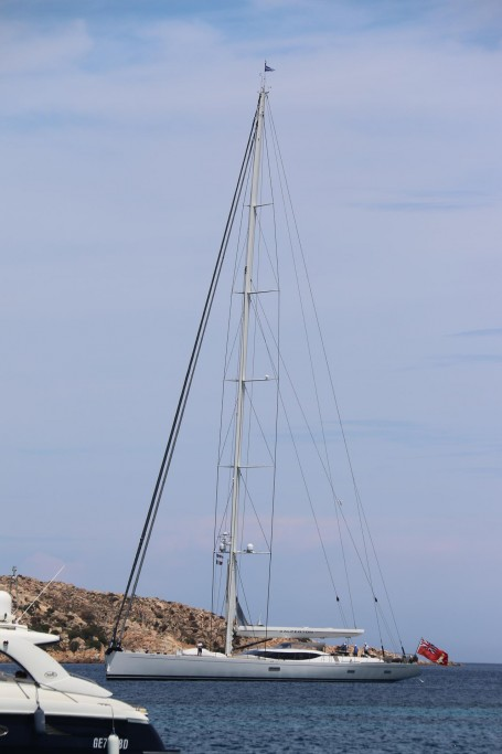 A few more boats arrive including this sleek 45m racing yacht called Salperton