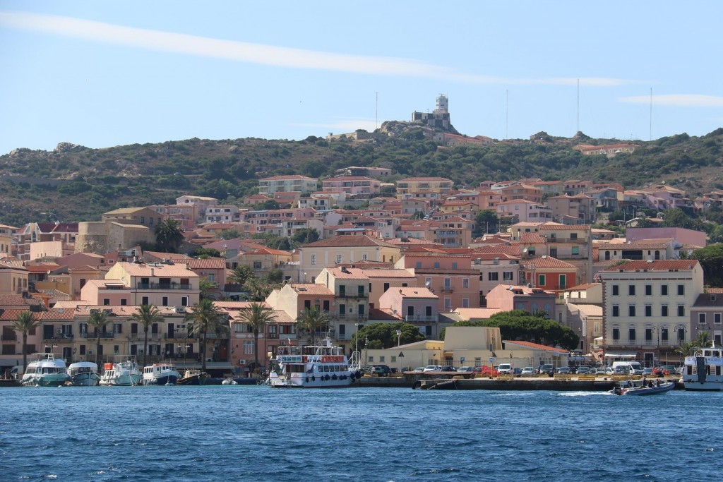 As the distances around La Maddelena Islands are not great we arrive in the main town less than half an hour later