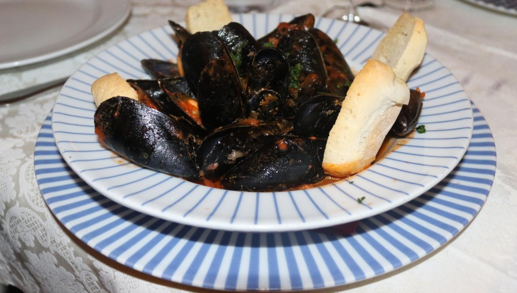 Mussels for starters