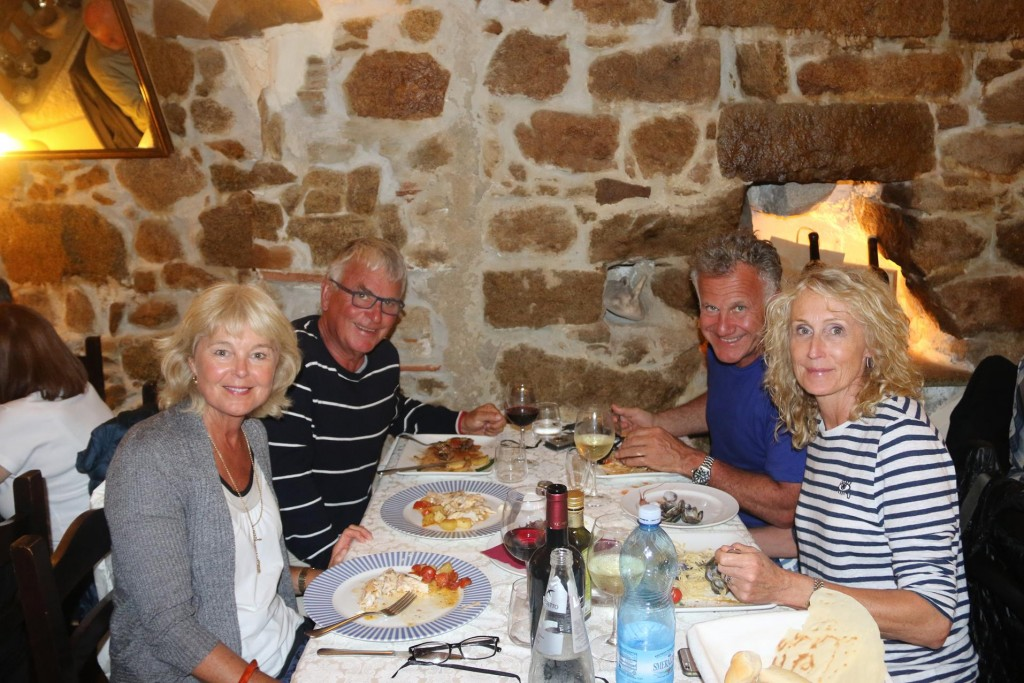 Dinner together at Ristorante Caprera